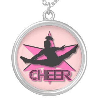 Cheerleader Round Pendant Necklace