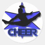 Cheerleader Round Stickers