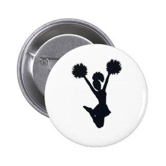 Cheerleader silhouette pins