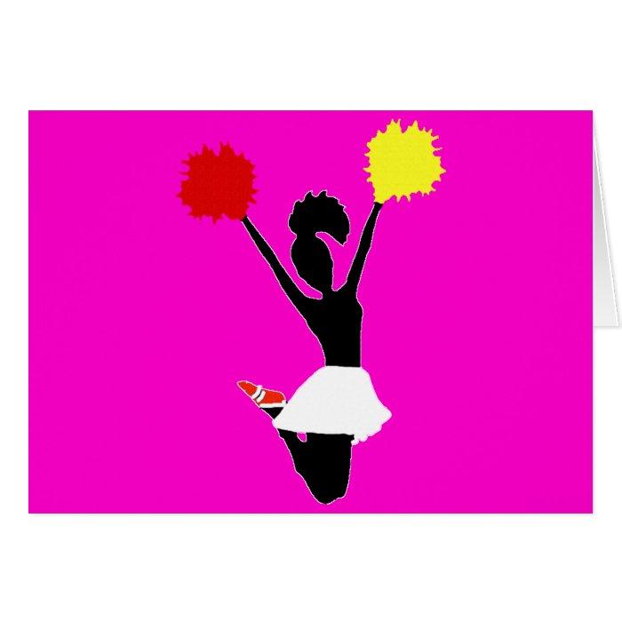 Cheerleader Silhouette Card