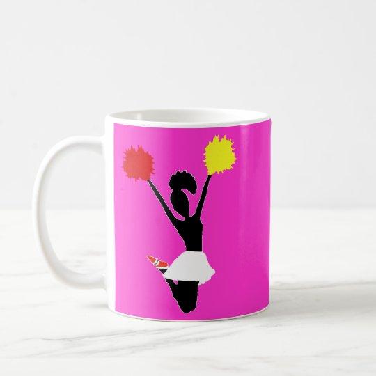Cheerleader Silhouette Coffee Mug