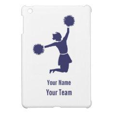 Cheerleader Silhouette In Blue On Ipad Mini Case at Zazzle