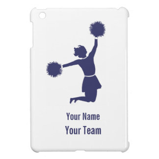 Cheerleader Silhouette in Blue On iPad Mini Case