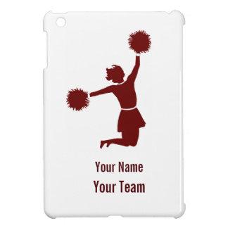 Cheerleader Silhouette in Red On iPad Mini Case