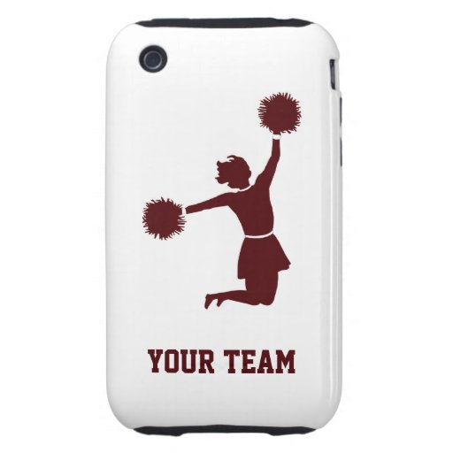 Cheerleader Silhouette On iPhone 3G/3GS Tough Case Tough iPhone 3 Case