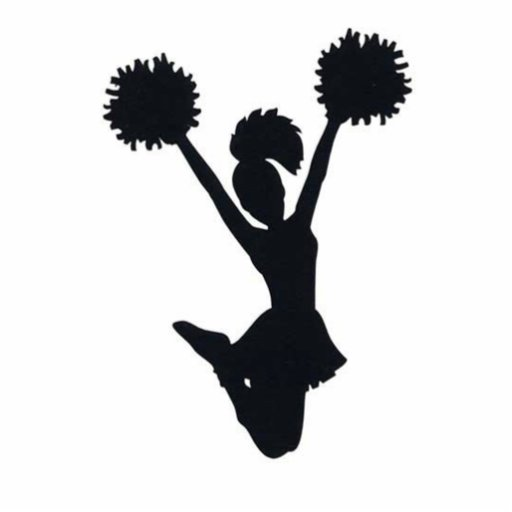 Cheerleader Silhouette Photo Cut Out Zazzle