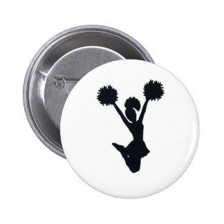Cheerleader silhouette pinback button