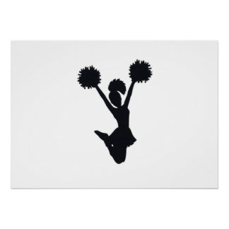 Cheerleader Silhouette Poster