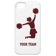 Cheerleader Silhouette Red On Iphone 5 Iphone Se/5/5s Case at Zazzle