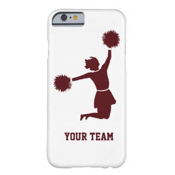 Cheerleader Silhouette Red On iPhone 6 case at Zazzle