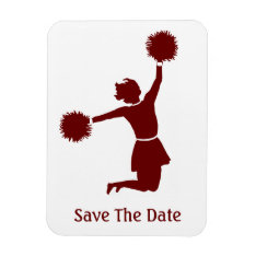 Cheerleader Silhouette Save The Date Magnet at Zazzle