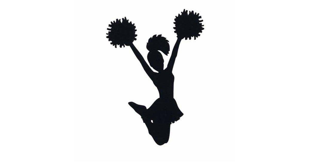 Cheerleader Silhouette Statuette | Zazzle