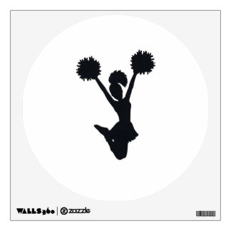 Cheerleader Silhouette Wall Decal
