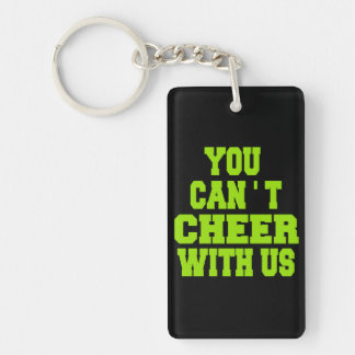 Cheerleader Single-Sided Rectangular Acrylic Keychain