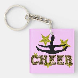Cheerleader Single-Sided Square Acrylic Keychain