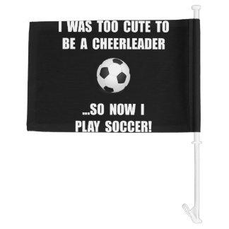 Cheerleader Soccer Car Flag