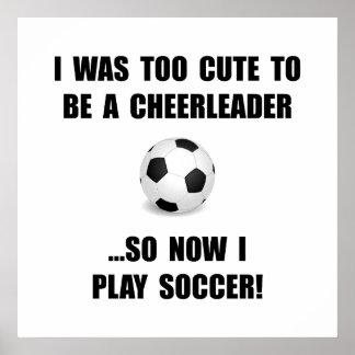 Cheerleader Soccer Poster