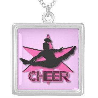 Cheerleader Square Pendant Necklace