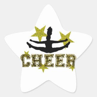 Cheerleader Star Sticker