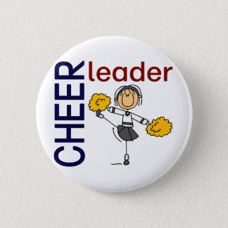 Cheerleader Stick Figure Button