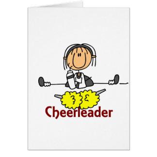 Cheerleader Stick Figure Greeting Card