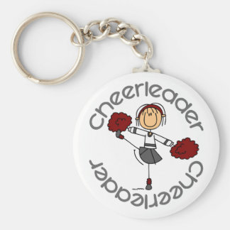 Cheerleader Stick Figure Key Chain