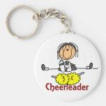 Cheerleader Stick Figure Keychain