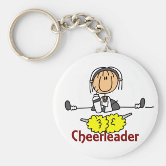 Cheerleader Stick Figure Keychain