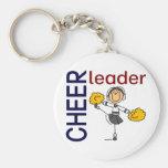 Cheerleader Stick Figure Keychains
