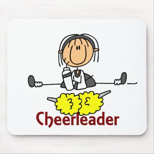 Cheerleader Stick Figure Mouse Mat