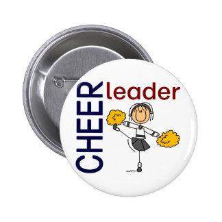 Cheerleader Stick Figure Pin