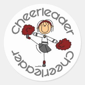 Cheerleader Stick Figure Stickers