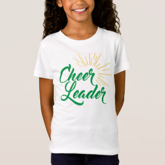 Cheerleader T-Shirt - Green & Gold