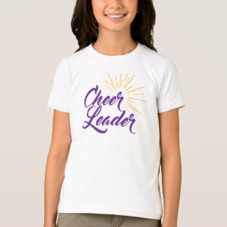 Cheerleader T-Shirt - Purple & Gold