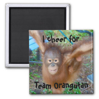 Cheerleader Team Orangutan Magnet