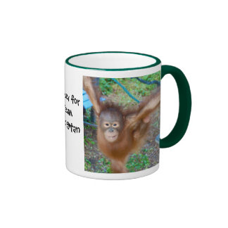 Cheerleader : Team Orangutan Ringer Coffee Mug