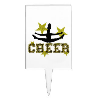 Cheerleader toe touch cake topper