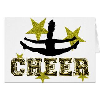 Cheerleader toe touch card