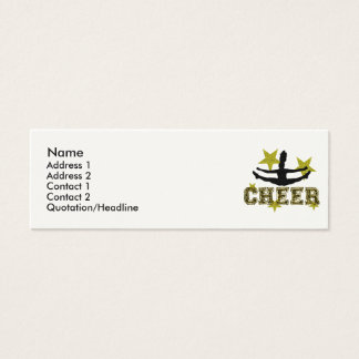 Cheerleader toe touch mini business card
