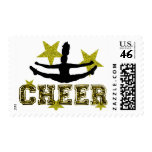 Cheerleader toe touch stamps