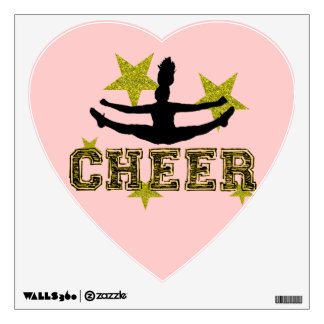 Cheerleader toe touch room decal