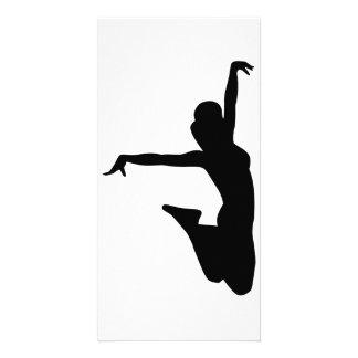 Cheerleader trampolinist card