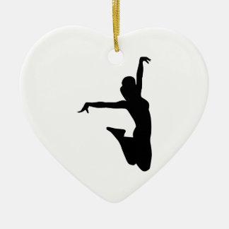 Cheerleader trampolinist ceramic ornament