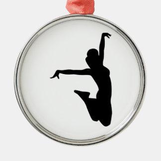 Cheerleader trampolinist metal ornament
