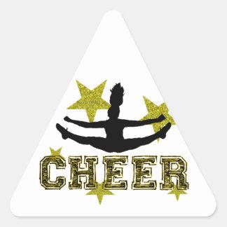 Cheerleader Triangle Sticker