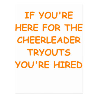 cheerleader tryouts post cards