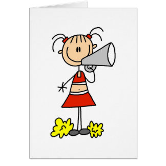 Cheerleader with Megaphone  Card
