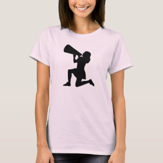 Cheerleader with megaphone t-shirt