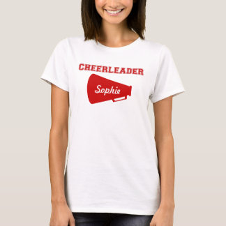 Cheerleader with megaphone t-shirt customize