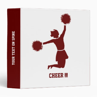 Cheerleader With Poms Silhouette On A Binder